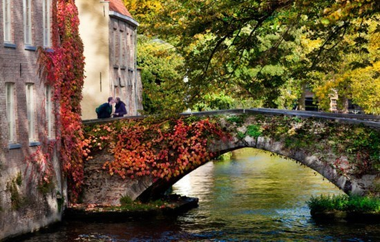 The Peerdenbrug (Horse Bridge) in Bruges, Belgium