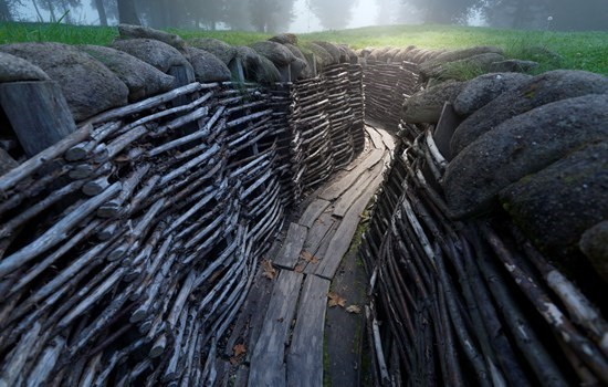 Reconstruction of the trenches of Flanders Fields in Ypres, Belgium